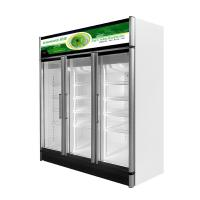 500L One Door Upright  Display Freezer With Lock / Key Auto - Defrost Type Manufactures
