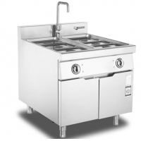 Stainless Steel Buffet Counter Food Cooking Stove Electric Bain Marie Food Warmer With Cabinet Manufactures