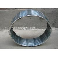 Hot Dipped Galvanized Razor Barbed Wire , Eco Friendly Cross Razor Wire For Fence Manufactures