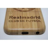 Cheap custom Real Madrid Carbon Bamboo Iphone 6 4.7 Inch wooden mobile phone case for sale