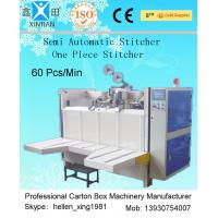 Cheap Semi-Automatic Stapler Carton Making Machine With Single / Double Stitching for sale