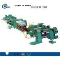 High Speed Sheet Roof Metal Slitting Line / PLC Control Stainless Steel Slitting Machine