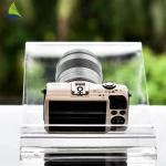 Countertop Acrylic Shop Display Transparent Clear Acrylic Camera Display Rack Manufactures