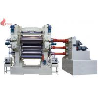 4 roll calender PVC Plastic calendering equipment with embossing machine