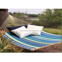 Collapsible Heavy Duty Quick Dry Hammock Quilted Fabric With Pillow Beach Stripe Manufactures