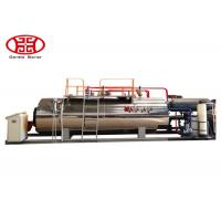 1 T/H Industrial Fire Tube Natural Gas Boiler , Diesel Oil Dual Fuel Fired Steam Boiler Manufactures