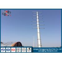 Zinc Coated Electrical Tubular Steel Poles For Transmission Line Project Q345 Manufactures
