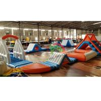 Durable 0.9mm PVC Tarpaulin Inflatable Floating Water Park For Adult & Kids Manufactures