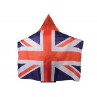 Australia Usa Flag Cape Wearable Kintted Polyester Nylon High Fastness Manufactures