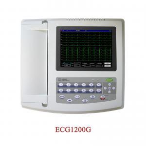 ECG-1200G,Digital 12 Channel 12 lead ECG EKG machine,FREE PC SOFTWARE+printer Touch Screen Manufactures
