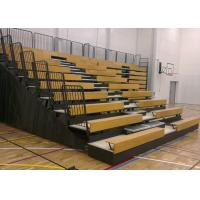 Timber Bench Modular Grandstands With Non - Marking Polyurethane Face Wheels