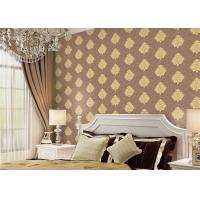 Buy cheap Classical Damask Concise European Washable Vinyl Wallpaper With Embossed Surface from wholesalers