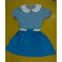 Blue Striped Children'S Cotton Pajamas Matching Brother Sister Clothes Manufactures