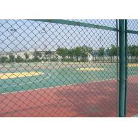 Green Plastic Coated Chain Link Fencing Low Carbon Steel Wire Material Manufactures