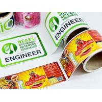 Packaging Glossy Sticker Labels , Sheet / Roll Glossy Printable Stickers Manufactures