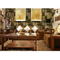 Cheap 3D Wood Printing PVC Material Living Room Decoration Wallpaper For 0.53*10M for sale