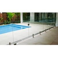 Transparent Outdoor Glass Fence , Fully Frameless Glass Pool Fencing Manufactures