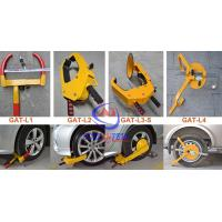 Unique Special Lock Steel Car Wheel Clamp Anti theft , Good Painting Manufactures