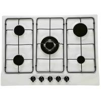 70cm white enameled built in gas hob Manufactures