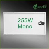Cheap 25 Years Wanrranty , Shading Tolerance , 255W Monocrystalline Solar Panels for sale