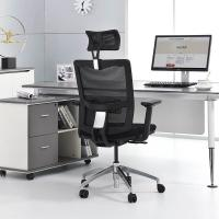 Ergonomic Executive Office Chair , Lift Handrails Black Executive Chair Manufactures