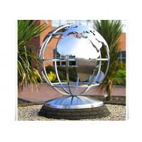 Metal World Globe Map Stainless Steel Sculpture For Public Decoration Manufactures