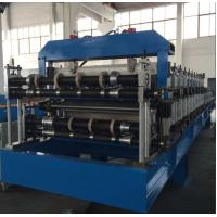 Double Layer Sheet Metal Forming Equipment , Metal Roofing Roll Forming Machine Manual Decoiler Manufactures