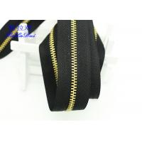 H65 Brass 40 Inch  / 48 Inch Separating Zipper  , Heavy Duty Metal Zippers For Coats Manufactures