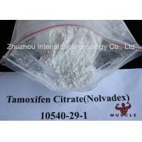 White Crystalline Raw Steroid Powders Nolvadex Tamoxifen Citrate Bodybuilding CAS 54965-24-1 Manufactures