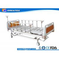 Remote Control Mobile Handicapped Electric Hospital Bed With IV Pole Three Functions Manufactures