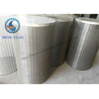 304 SS Johnson Wedge Wire Screen  Groundwater Wells V Shape For Drum FIlter Manufactures