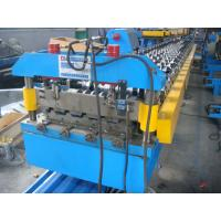 Cheap 50Hz Steel Tile Forming Machine with Compture Control System , Cr12mov Blade for sale