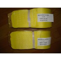 4 Inch 30 Foot Ratchet Tie Down Straps Yellow For Motorcycle Lightweight Manufactures