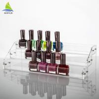 Commercial Clear Thickness Ladder Shape Nail Polish Display Stand OEM Service Manufactures