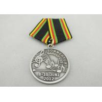 Promotional Gift Brass / Copper / Zinc Alloy Custom Awards Medals with Special Ribbon, Die Stamping