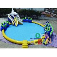 Outdoor Commercial Inflatable Water Park Round For Kids Durable Security Manufactures