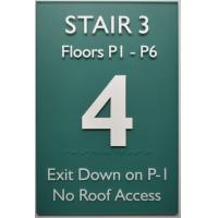 """Straight Edge ADA Compliant Signs 12""""X18"""" , Acrylic Panel Braille Exit Stair Sign Manufactures"""