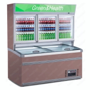 Painting Steel Commercial Display Freezer With Glass Door Manufactures