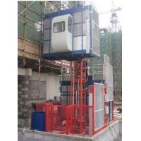 China Painted Twin Cage Red Construction Material Hoists for Building SC200 / 200 SC100 on sale