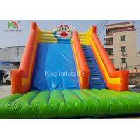 Rabbit Shape Inflatable Water Slide With Logo Printed Outside Entertainment Manufactures