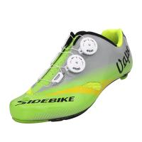 Double Dials Self Lace Cycling Shoes / Carbon Sole Durability Breathable Bike Shoes Manufactures