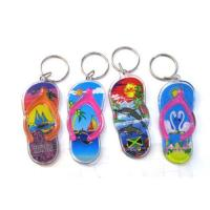 Sell plastic slipper key ring