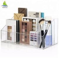 Transparent Crystal Acrylic Make Up Organizer Modern Acrylic Cosmetic Organizer Manufactures