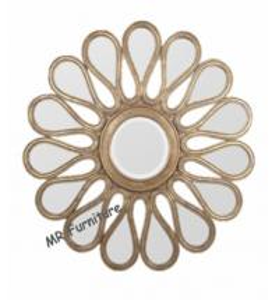 Cheap Mosaic Shell Mirrored Metal Wall Art, Decorative Round Mirror Wall Art for sale