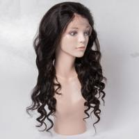 Virgin Human Hair Lace Front Wigs No Shedding For Black Woman , Medium Brown Color Manufactures