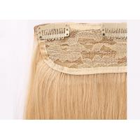Yellow Clip In Natural Hair Extensions , Straight Full Head Clip In Hair Extensions Manufactures