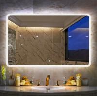 China Intelligent Frameless Hotel Bathroom Wall Hanging No copper Silver 60*80cm~150*90cm LED Illuminated Makeup Mirror on sale