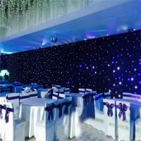 Indoor and Outdoor led curtain led light black curtain Star cloth lighting for sale Manufactures