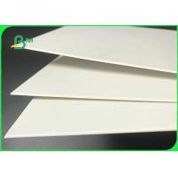 61 * 61cm 1.5mm 2.0mm FSC & SGS Duplex Board White Back For Cosmetic Boxes Manufactures
