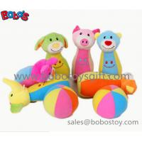 """7"""" Plush Baby Farm Friend Bowling Ball Toy  Stuffed Animal Style Kids Bowling Ball Toy Manufactures"""